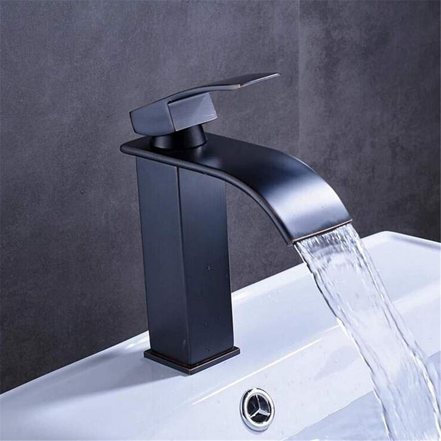 Faucet Modern Plated Kitchen Bathroom Faucet Basin Faucet Faucet Deck Mounted Mixer Water Tap with Hot and Cold Water Crane