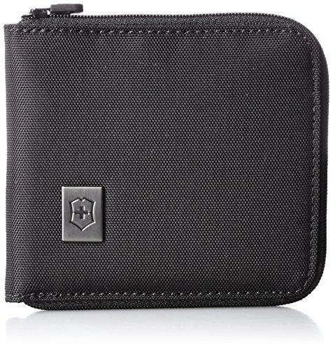 Victorinox Zip-Around Wallet, Black/Black Logo, One Size