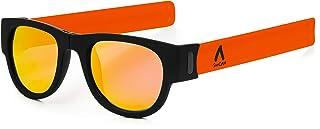 7ed0fe9d17 Gafas de Sol polarizadas Efecto Espejo, Plegables y enrollables UV400.  Bolsa Microfibra