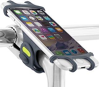 Bone Universal Bike Phone Mount,Silicone Bicycle Phone Holder, Universal Motorcycle Stem Mount Compatible for iPhone Xs/X/8/7/6s, Galaxy S8/S7/S6, 4.0�-6.0� Phones, Bike Tie Pro - Dark Blue