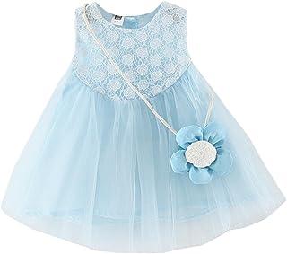 Tonsee 子供服 女の子 ワンピース プリンセスドレス 花柄 袖なし チュールスカート パーティードレス+ バッグ 結婚式 七五三 プレゼント 70CM-100CM