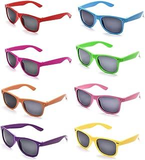 Neon Colors Party Favor Supplies Unisex Sunglasses Pack of 8 (Multicolor)