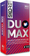 Skore Duo Max - Premium Condoms with Disposal Pouches - 1 Pack (10 pieces)