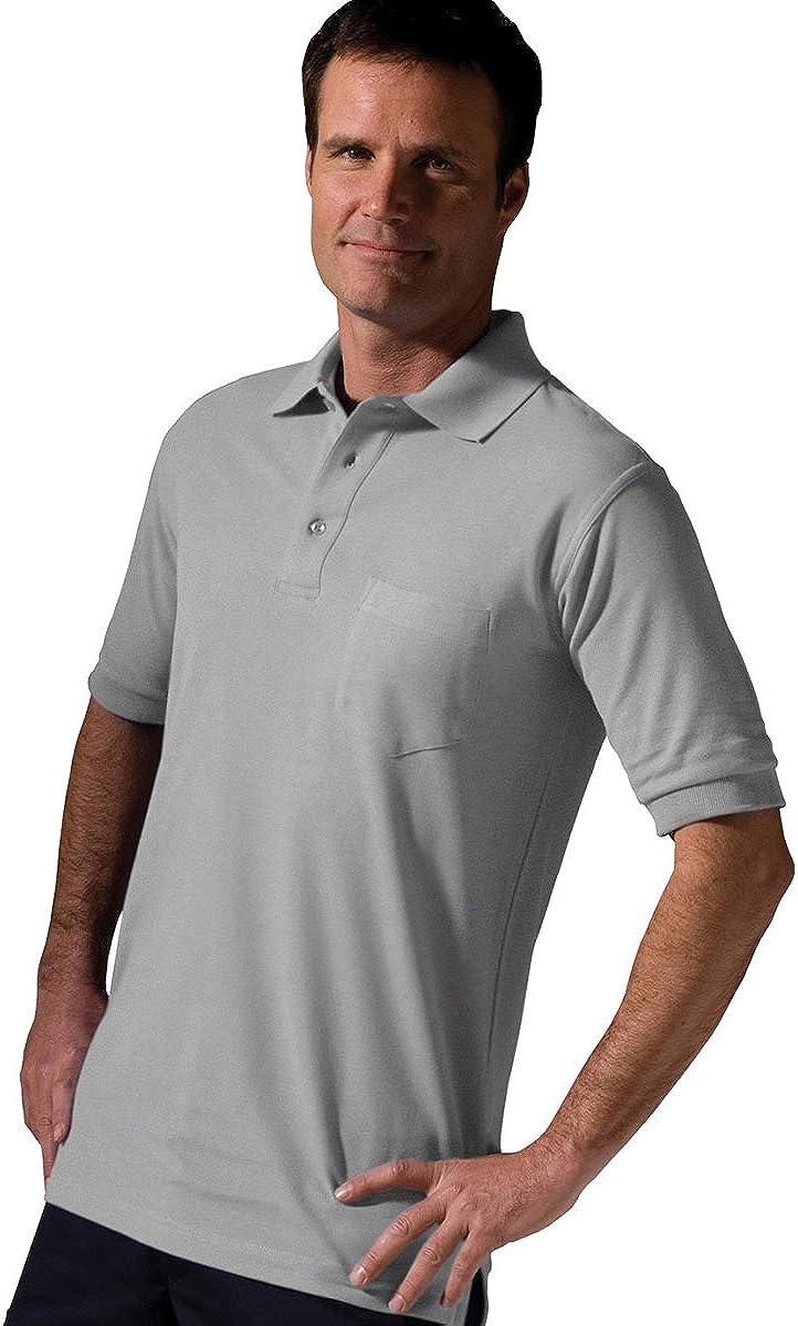 Edwards Garment Big and Tall Short Sleeve Pique Pocket Shirt
