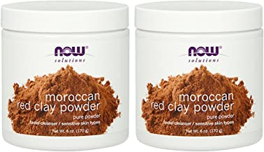 NOW Red Clay Powder Moroccan, 6-Ounce (Pack of 2)