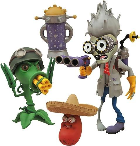 Plants vs. Zombies Scientist Zombie vs. Gatling Pea Action Figure Set