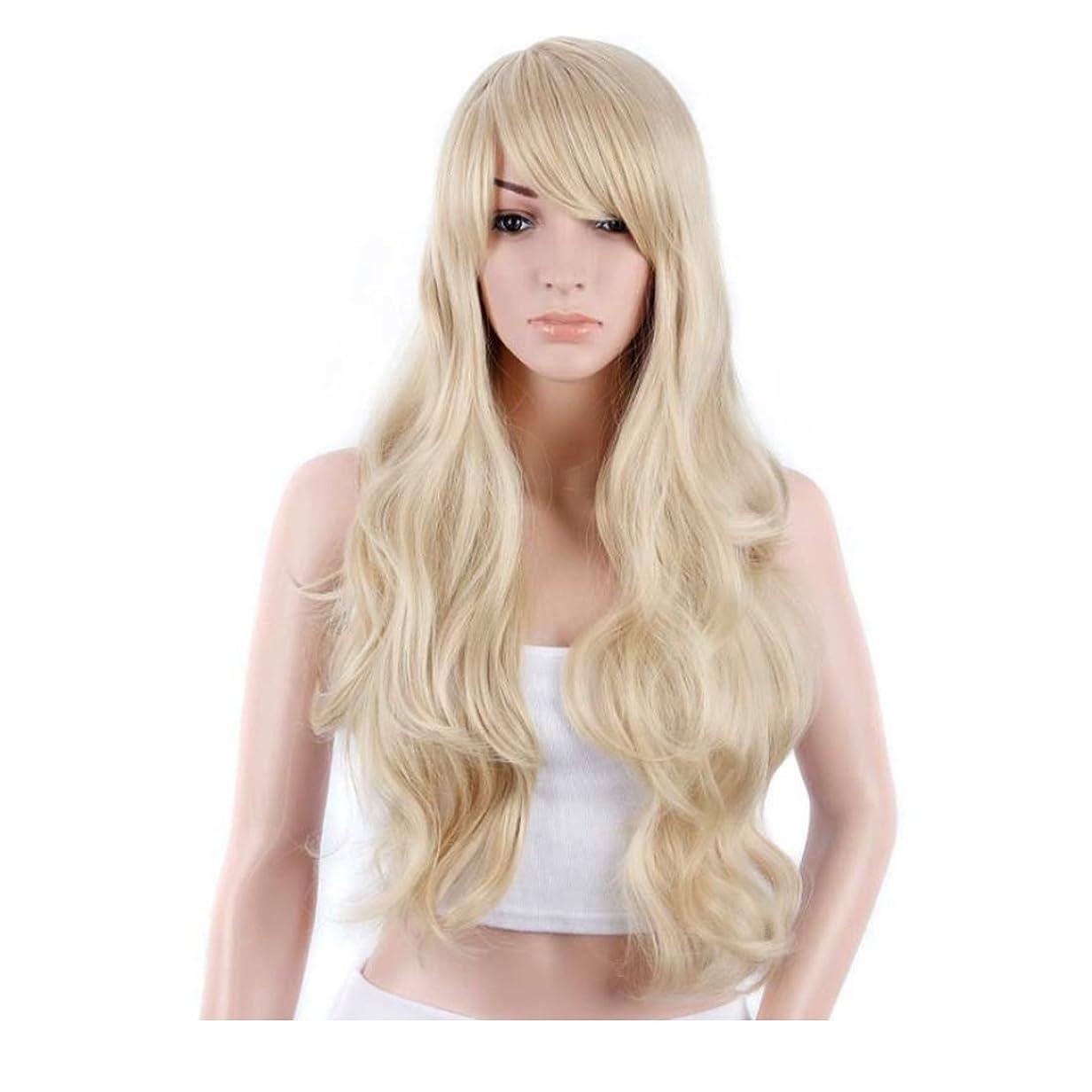 仕事に行く防水経済的JIANFU 女性のための新鮮で素敵な髪型ウィッグロングストレートヘアーパーソナリティオブリックバングウィッグパーソナリティヘアナチュラルカラー21inchの長さのためのふわふわかつら(黒、ベージュ) (Color : Beige)