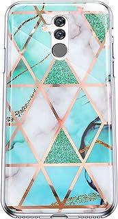 Felfy Kompatibel med Huawei Mate 20 Lite fodral marmor Case Cover Cover Cover mjuk TPU silikon mobiltelefonfodral halkskyd...