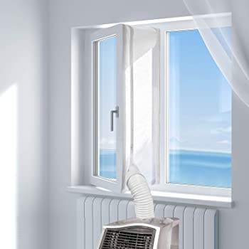 Rhodesy AirLock Guarnizione Universale Per Finestra per Climatizzatori Mobili e Asciugatrici 300CM Finestre Facile da Installare Senza fare Buchi