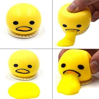 Ocosy 4Pack Emoji Vomit Eggs   Soft & Squishy Stress Relief Party Favor   Novelty Gag Toys Spitting Yolk Egg Prank Squeeze Stress Relief Toys for Practical Jokes