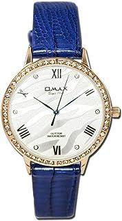 اوماكس ساعة انالوج بعقارب جلد دائري للجنسين -GT005R82I