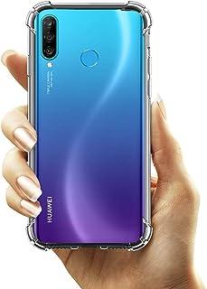Huawei P30 Lite/Huawei Nova 4e Case Cover Flexible Bumper with Reinforced Corners Transparent Protective Case for Huawei P...