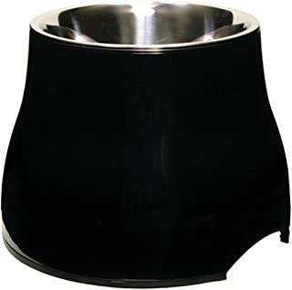 Dogit Elevated Dog Bowl, Stainless Steel Food & Water Dish for Large Dogs, Small, Black