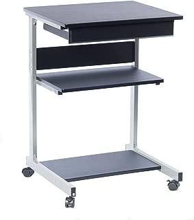 TECHNI MOBILI Modus Metal Computer Student Laptop Desk in Graphite