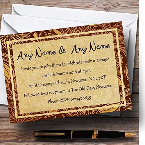 Elegant Vintage Brown Gold Postcard SALENEW very popular! Reception Style Personalized Evening