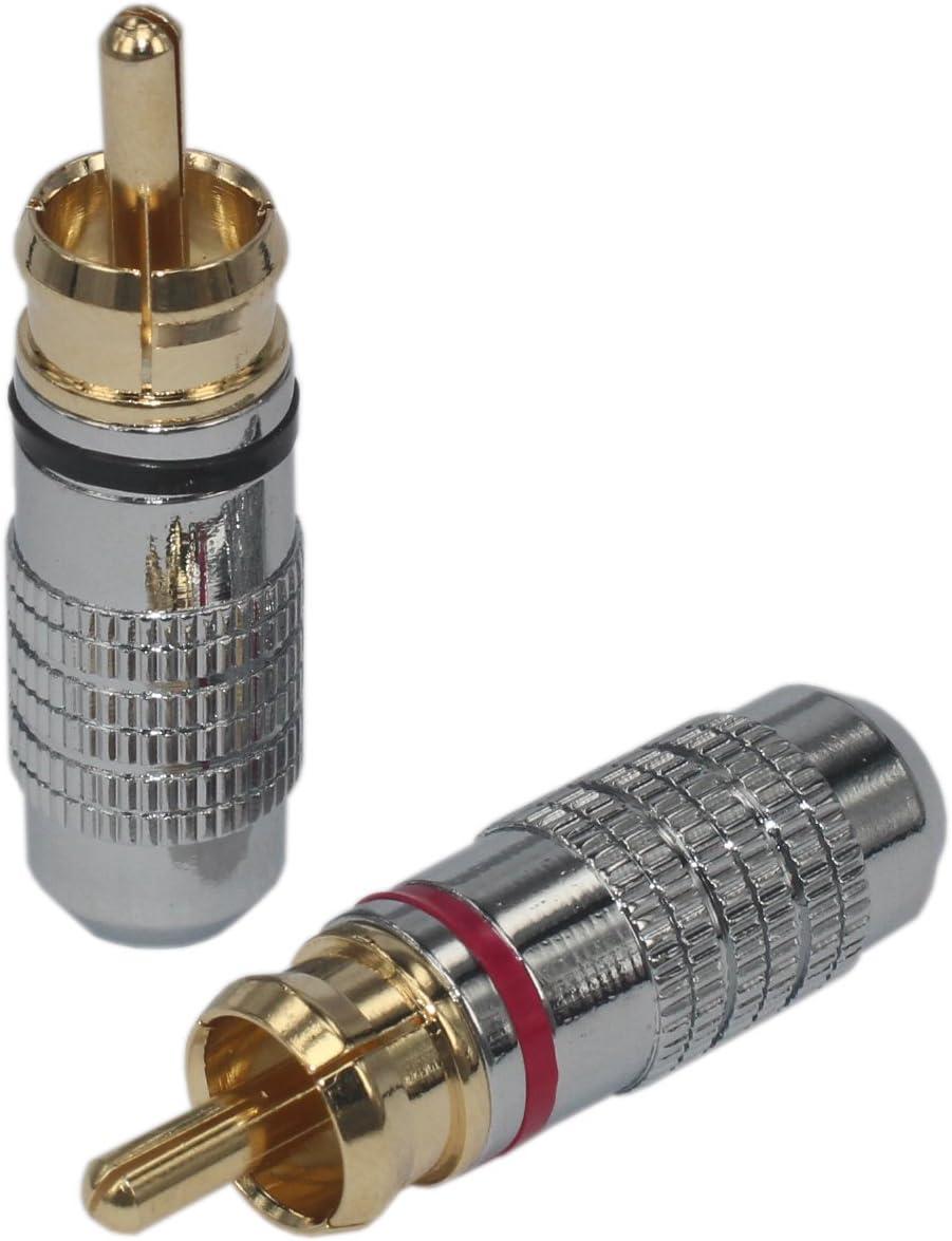 4pcs 4 pcs Total Hi End RCA Limited price sale Audio Gold Phono Male Adapter Max 74% OFF Plug
