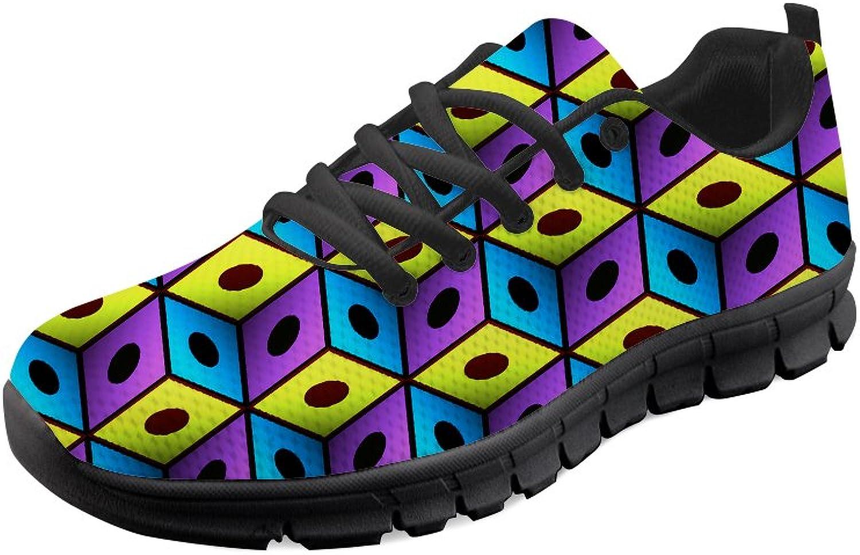 HUGS IDEA Fashion Men Lighhtweight Running Sneakers Mesh Lace up Walking shoes