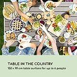 Gartentisch Tischfläche 6 Personen Polywood & Aluminium Witterungsbeständig - 4