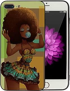 Afro African American Girl iPhone 7 Plus iPhone 8 Plus Case Afric Women Vintage Beautiful Art iPhone7 Plus iPhone8 Plus Cover Drawing Painting Black Love Design - KITATA