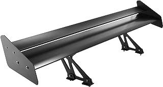 Mophorn GT Wing Spoiler 53Inch Universal Lightweight Aluminum Rear Spoiler Wing Adjustable Angel Double Deck Racing Spoiler BGW Drift JDM Drift Black (53 Inch Double Deck)