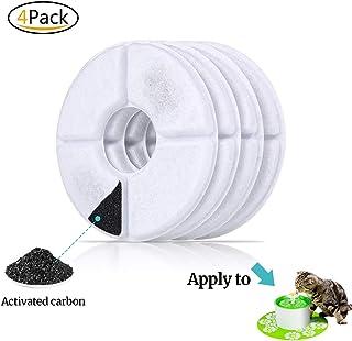 rsvxiaohua Xiaohua mascota Flor Pluma filtros de repuesto, filtros de dispensador de agua de carbón