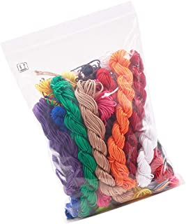 Hegerby 20pcs 1mm 24m Nylon Beading String Multi Color Knotting Cord Thread for DIY Craft Jewellery Bracelet Making