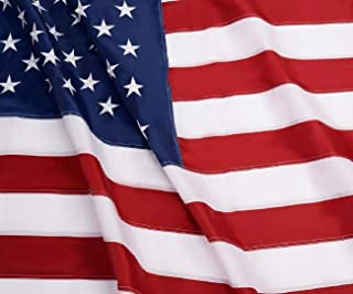 American Flag: Longest Lasting US Flag Made from Nylon - Embroidered Stars - Sewn Stripes - UV Protection Perfect for Outdoors! USA Flag (5x8 ft)