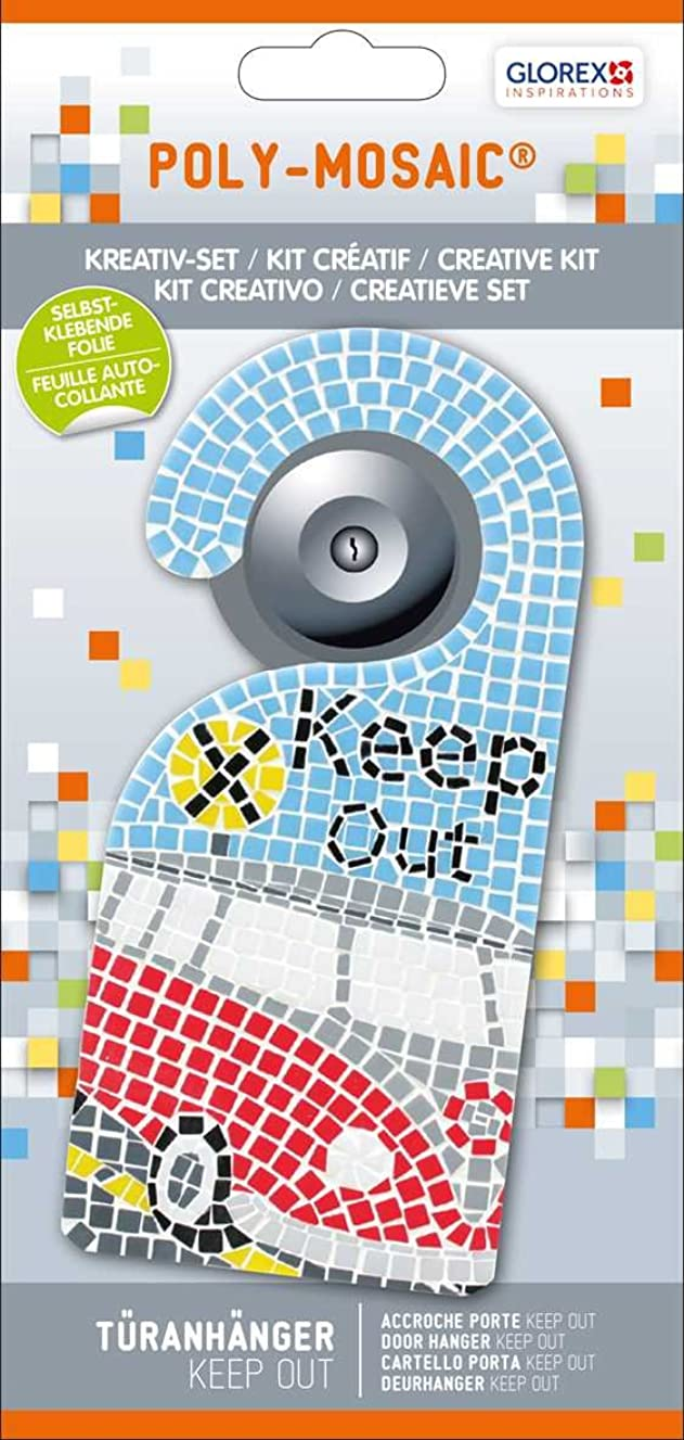 Glorex Poly Mosaic Creative Set Door Hanger Keep Out Plastic Multicolour 24.5?x 11.6?x 1?cm