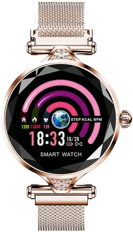 CCSHW Smart Watch Blautdruck Herzfrequenz Schlaf Monitor Farbdisplay Blautooth wasserdichte Kamera Sport Fitness Schrittzhler Damen Tabelle,Gold