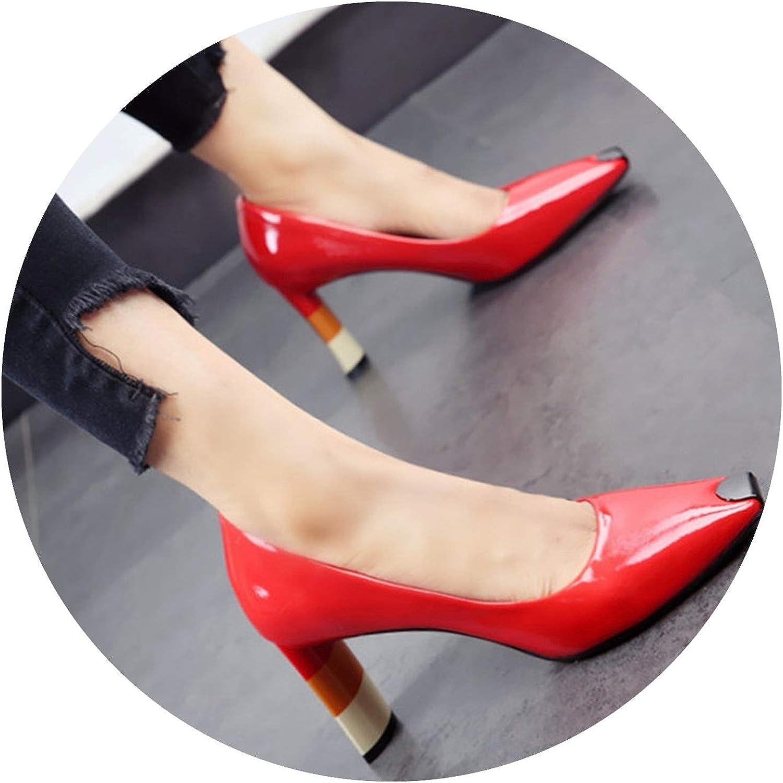 Wild Little Cat colord Heel Women high Heel shoes Metal Square Toe Girls Women Pumps high Heels