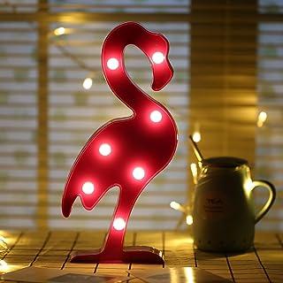 SPECOOL 3D LED Flamingo lumi/ère Flamants Rose lampe de nuit Romantique aliment/é par batterie Marquee Flamingo Table lumi/ères pour la maison de la Chambre denfant Kids Birthday Party d/écorations