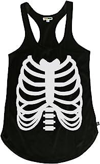 bffc3566864 Tipsy Elves Women s Skeleton Halloween Costume Shirt - Skeleton Tank Top