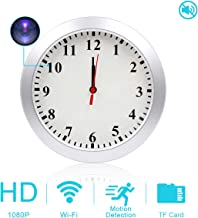 AMCSXH HD 1080P WiFi Hidden Camera Wall Clock Spy Camera with Motion Detection, Security for Home and Office, Nanny Cam/Pet Cam/Wall Clock Cam, Remote-Real Time Video, Support iOS/Android, Video only
