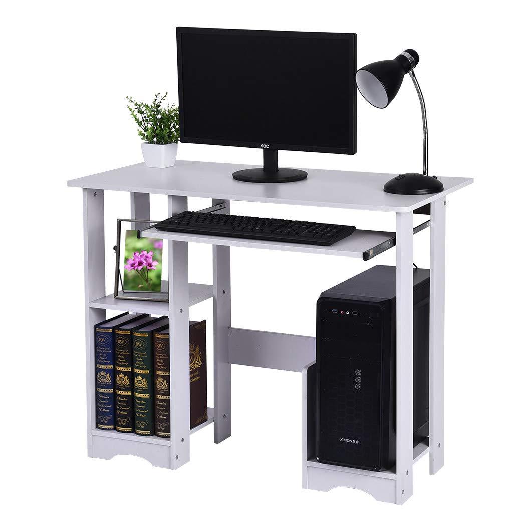 台式 办公 家用电脑桌,左边 现代 极简主义 书桌 书本 大型 电脑桌 35.4 × 18.9 × 28.3 英寸