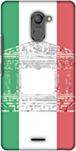 AMZER Slim Designer Snap On Hard Shell Case for Infinix Hot 4 Pro - The Pantheon of Rome- Italy Flag
