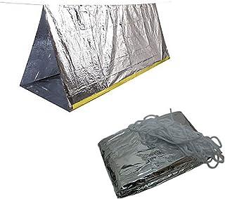 DHNOOT エマージェンシー シート テント シェルター サバイバル 防水 断熱 防寒 非常用 テント 防災 アルミ蒸着 ツェルト 登山 キャンプ 冬山 防災