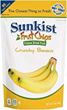 Sunkist Freeze Dried Fruit - Banana Slices - 0.8 oz Resealable Bags - (8 pack) - 100% Fruit, Real Fruit Snack, Natural, Non-GMO, Not Powder, Clean Label, Fruit Chips, Crunchy, No Added Sugar, Simple