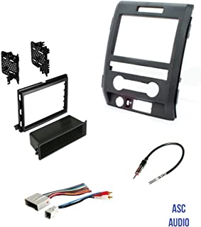 ASC Audio Car Stereo Radio Install Dash Kit, Wire Harness, and Antenna Adapter to Add an Aftermarket Radio for some Ford Vehicles - Vehicles Listed Below,