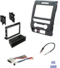 ASC Audio Car Stereo Radio Install Dash Kit, Wire Harness, and Antenna Adapter to Add an Aftermarket Radio for some Ford Vehicles - Vehicles Listed Below