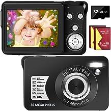 Digital Camera Vlogging Camera 1080P 30 MP Compact Camera 8X Digital Zoom Mini Camera 2.7 Inch LCD Screen Camera for Begin...