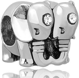 Couple de Chevaux Korliya Breloque pour Bracelet en forme de C/œur