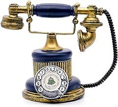 1Pack Antique Telephone Creative Retro Decorative Phone Resin Rotary Dialing Telephone Decorating Cafe Bar Window Decoration Home Decoration Props (Blue)