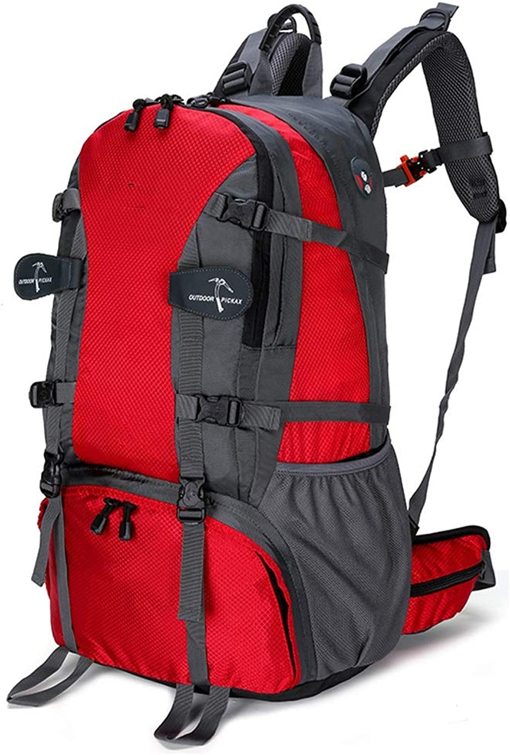 LLSDLS Outdoor Mountaineering Bag Knapsack Travel Rucksack Ultra Lightweight Packable Men and Women Waterproof Fashion Riding Daypack (red)