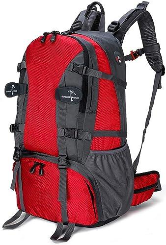 YQCSLS Sac à Dos de Voyage Sac à Dos Ultra léger pour Hommes et Femmes, Sac à Dos de Montagne, Sac à Dos d'équitation de Plein air (Rouge)