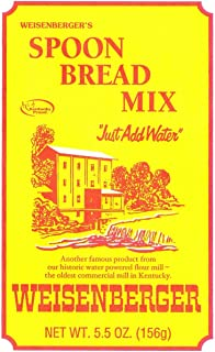 Weisenberger Spoon Bread Mix, 5.5-Ounce - Authentic, Old Fashioned, Corn Bread Made From Non GMO Cornmeal - A Kentucky Proud Product - 4 Pack