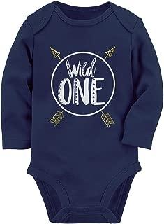 Wild One Baby Boys Girls 1st Birthday Gifts 1 Year Old Baby Long Sleeve Bodysuit