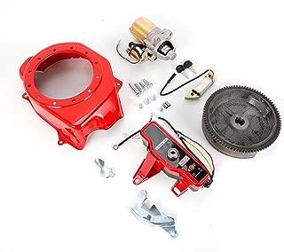 Electric Start Kit Flywheel Starter Motor Key Switch Coil Ignition Fan Cover Fit For Honda GX160 5.5HP GX200 6.5HP
