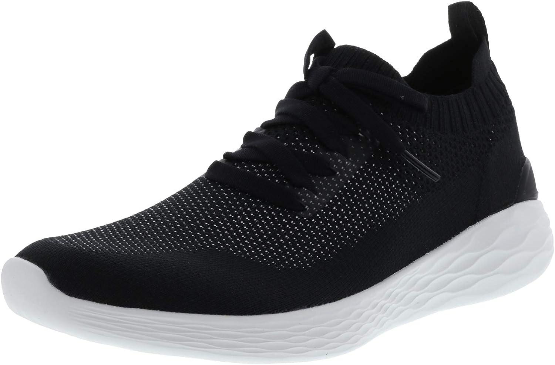 Skechers Men's Go Strike - Altitude Black White Ankle-High Running shoes 9.5M