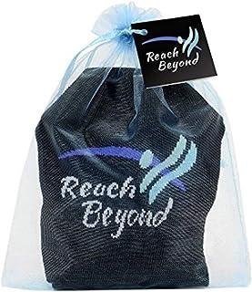 Toe Talk Reach Beyond Non Slip Grip Socks for Yoga Meditation & Tai Chi