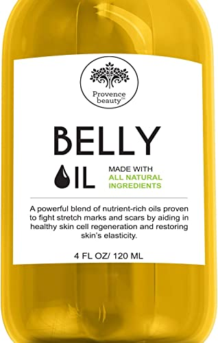 Belly Oil for Pregnancy and Stretch Marks - All Natural Scar Prevention and Reduction Therapy, and Uneven Skin Tone -...